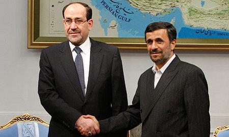 De irakiska och iranska presidenterna, al-Maliki och Ahmadinejad